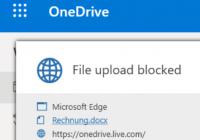 DLP: Upload blockiert