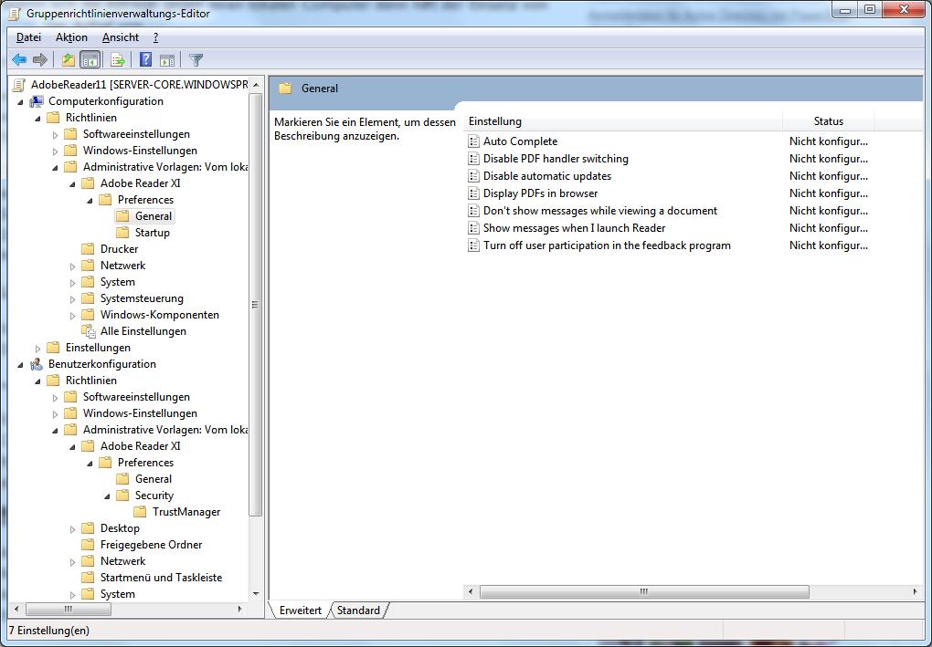 Adobe Reader XI zentral verwalten: GPO, Customization Wizard