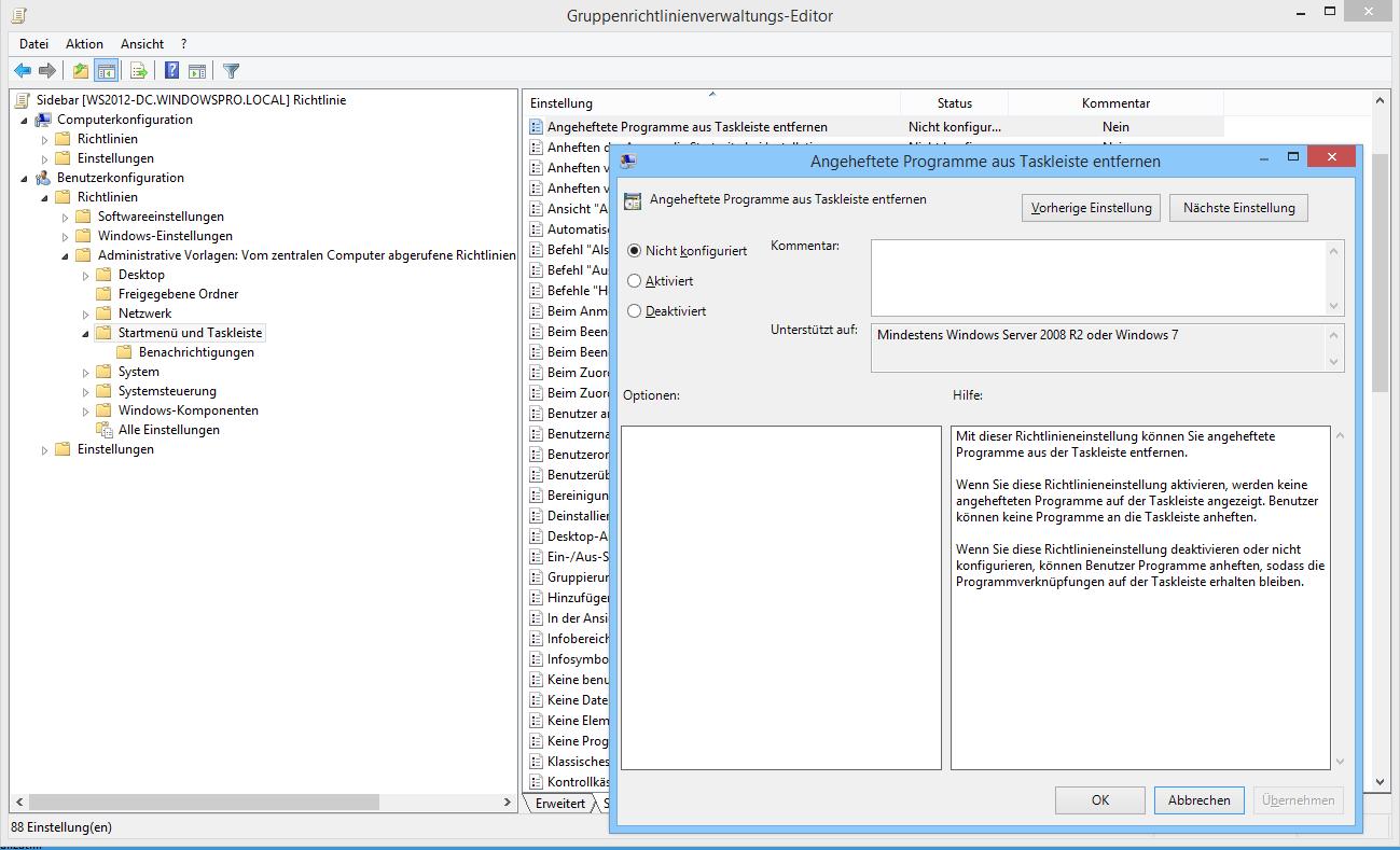 Store App per GPO von der Taskleiste entfernen | WindowsPro