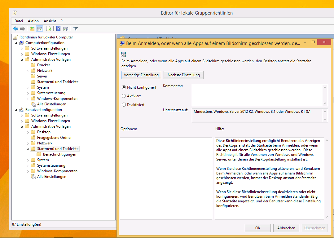 Boot to Desktop in Windows 8.1 über GPOs steuern | WindowsPro