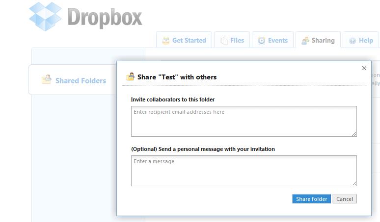 dropbox: synchronisierung, online-backup und file-server in einem, Einladungen