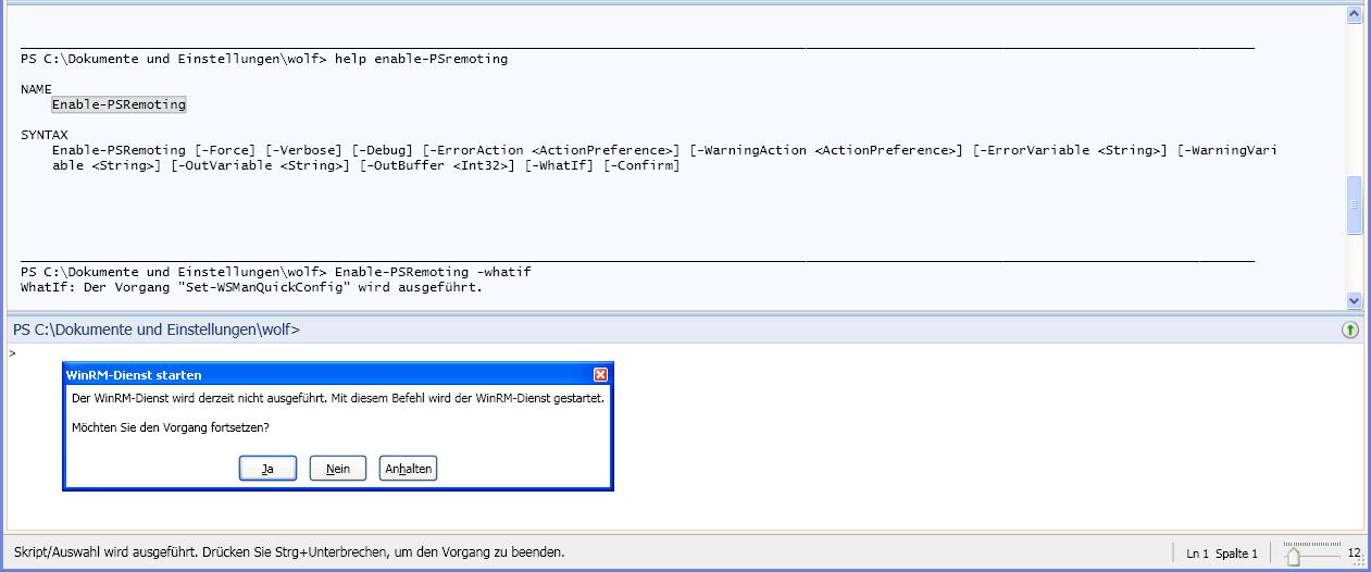 Powershell 2.0 unter XP installieren und Remoting konfigurieren ...