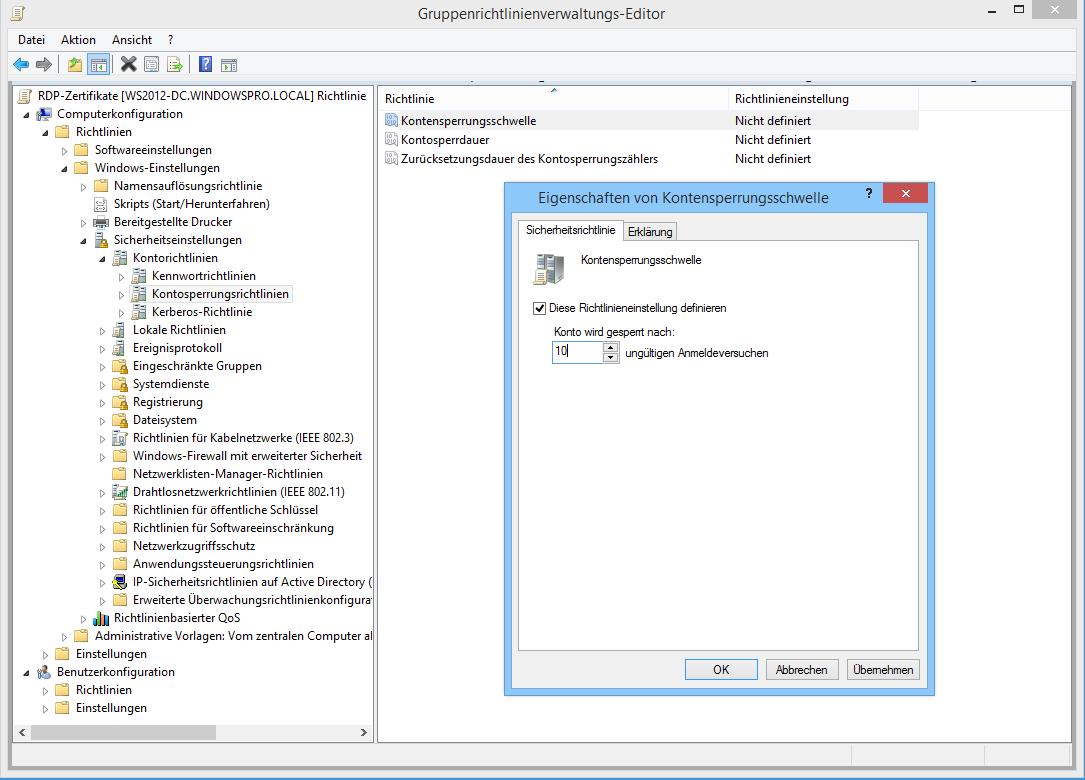 Kontosperrung über Gruppenrichtlinien konfigurieren | WindowsPro