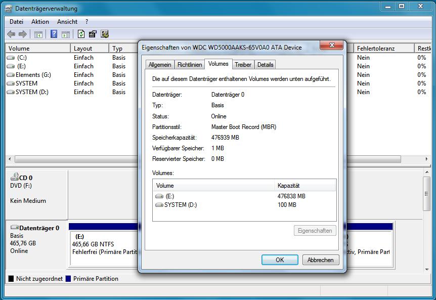 GPT oder MBR: Partitionierungsschema auslesen mit diskpart