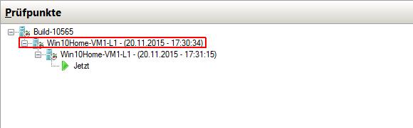 Löscht man hier den Prüfpunkt Win10Home-VM1-L1 Win10Home-VM1-L1 - (20.11.2015 - 17:30:34), dann verschmilzt er mit Build-10565.