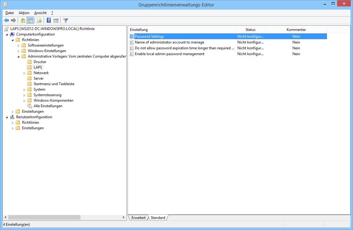 Lokale Administrator-Passwörter zentral verwalten mit LAPS | WindowsPro