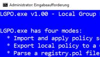 Lokale Gruppenrichtlinien verwalten mit LGPO.exe