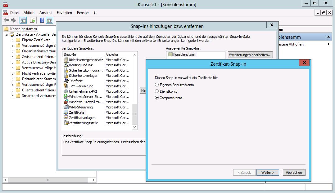 SSL-Zertifikat für IIS und WSUS installieren auf Server Core ...