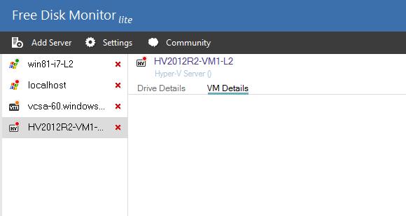 Der Disk Monitor zeigte keine Details zu den VHD(X)-Dateien.