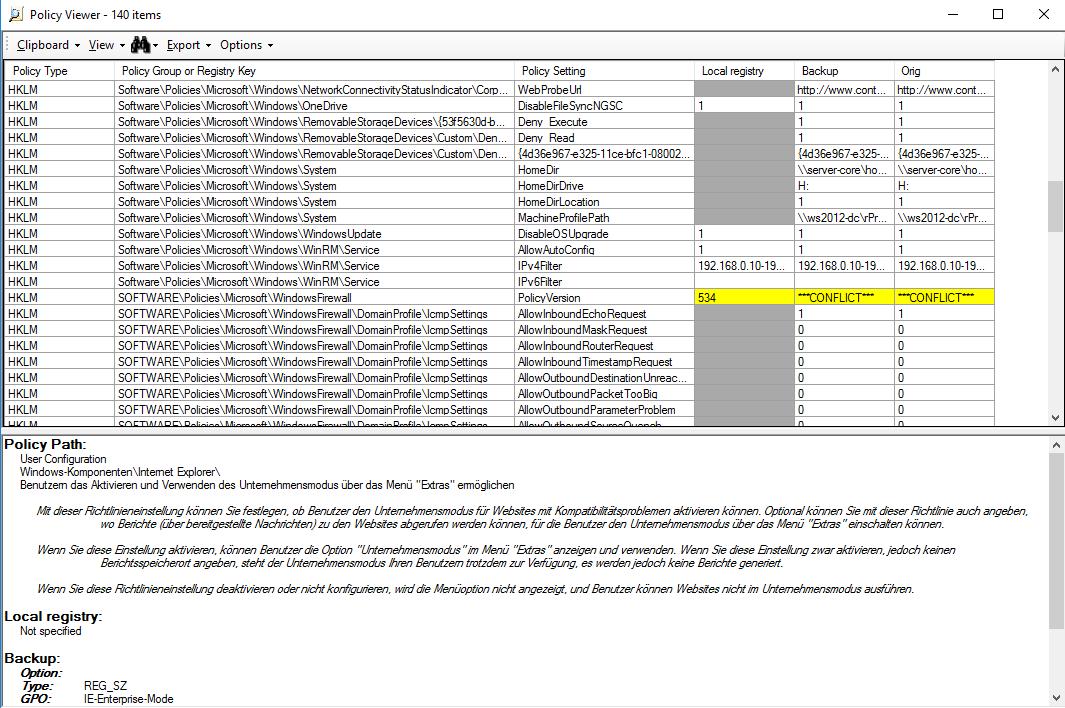 ADMX-Download für Windows 10 1803 und Security Baselines