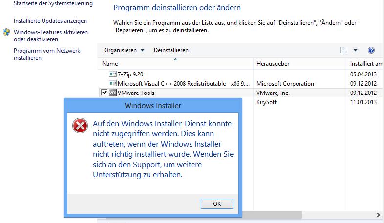 windows 7 programme deinstallieren