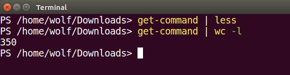 PowerShell-Output über eine Pipe an Linux-Programme übergeben.