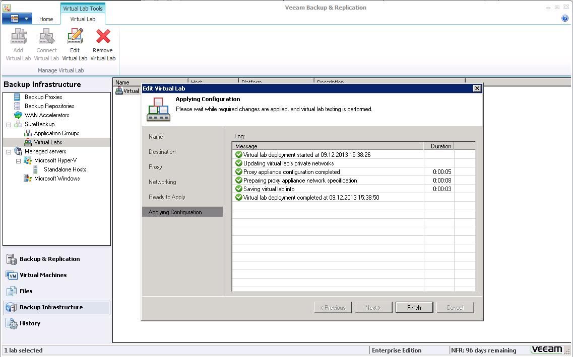 Gesicherte VMs in Veeam Backup & Replication automatisch testen