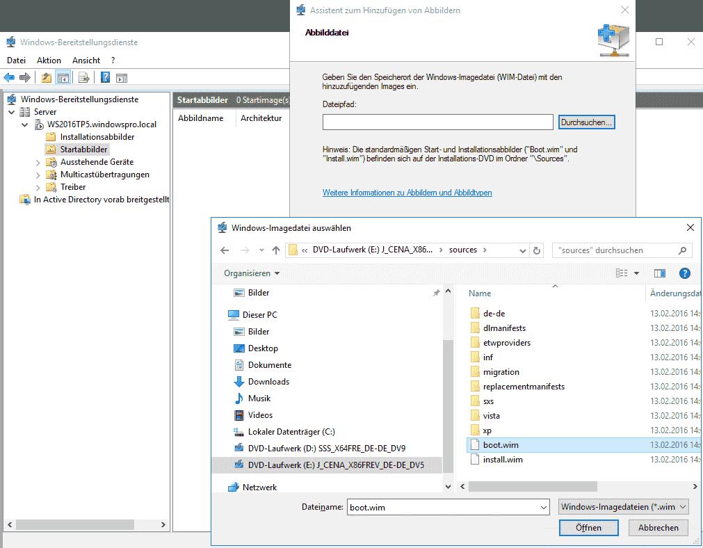 Windows über Bereitstellungsdienste (WDS) installieren