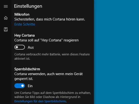 Windows 10 1607 sieht kein interaktives Abschalten von Cortana oder der Web-Suche mehr vor.