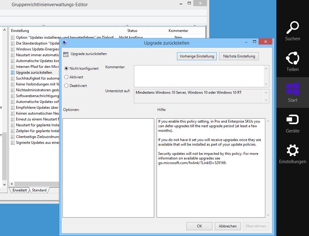 GPOs für Windows 10 unter Windows Server 2008 und 2012 (R2