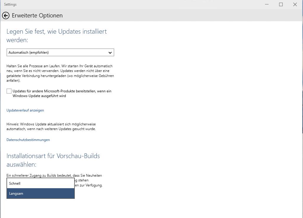 Fehler 0x8024200D, 0xc1900200 bei Update von Windows 10 Tech Preview