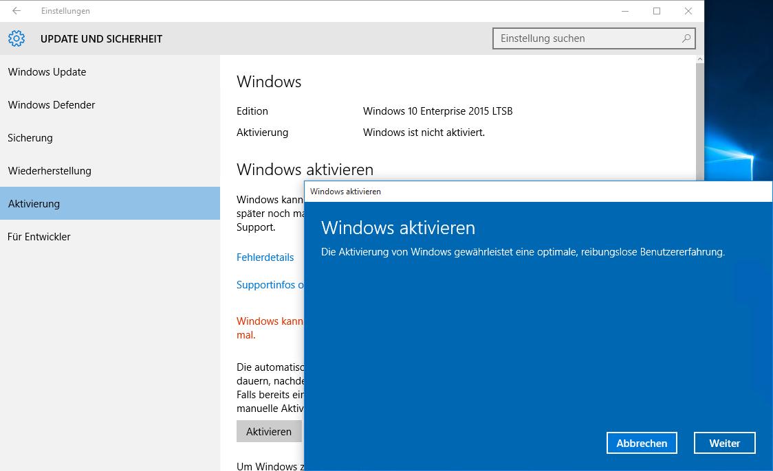 Windows 10 aktivieren: Fehlercode 0x8007232B (DNS-Name ist ...