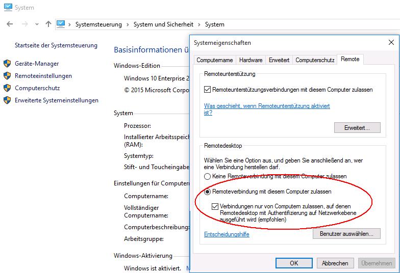Fritzbox vpn remote desktop geht nicht
