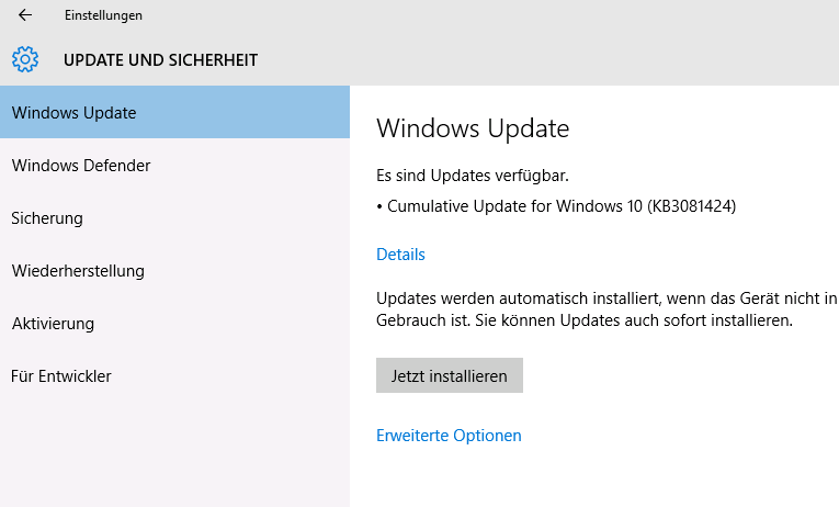 windows 10 pro update patch