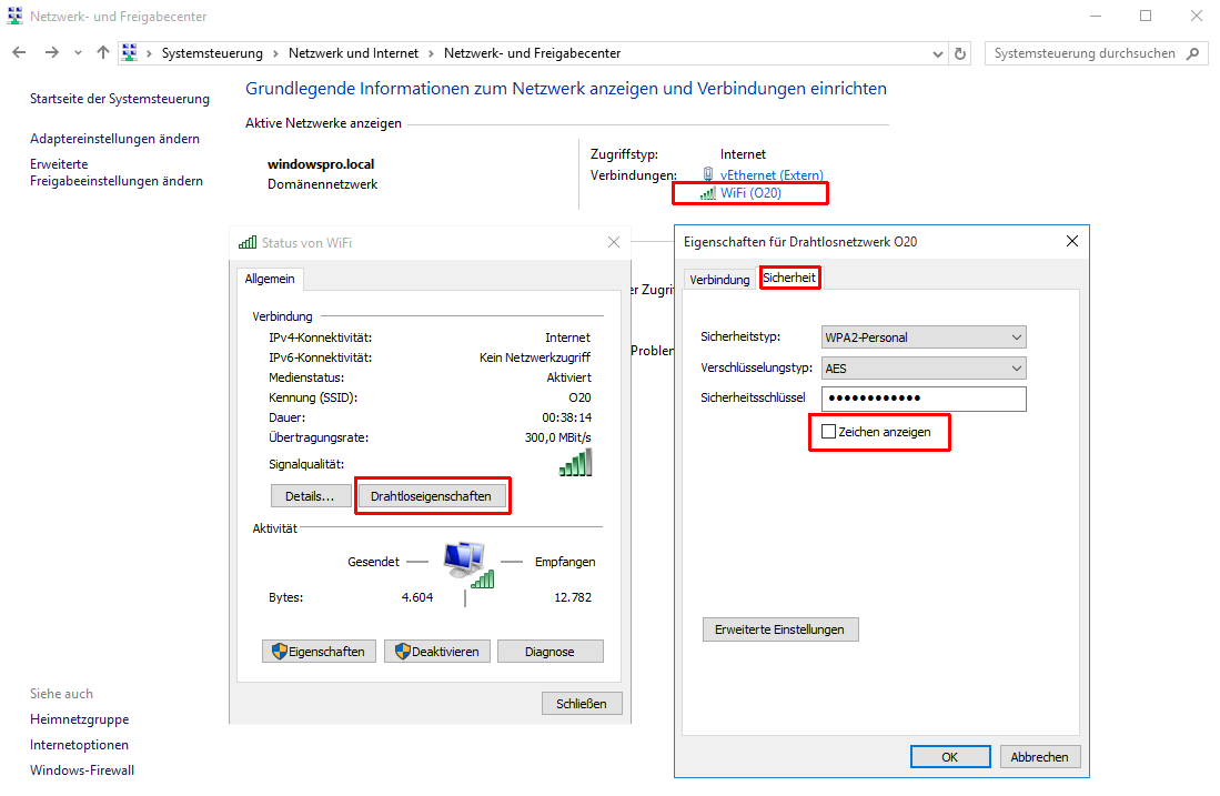 windows 7 passwort anzeigen