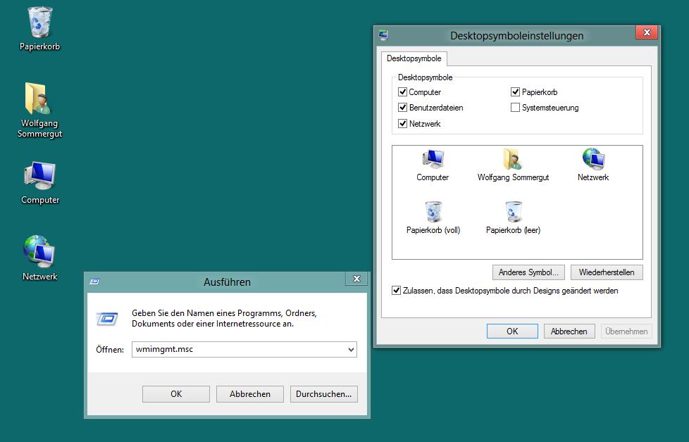 windows 8 symbole auf desktop