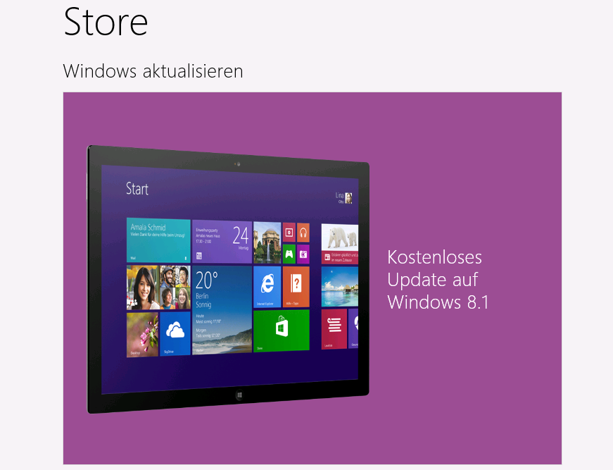 Upgrade auf Windows 8.1 von Windows 7/8, Preview, RTM und 32-Bit