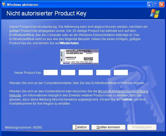 Windows Xp Aktivierung Serial number