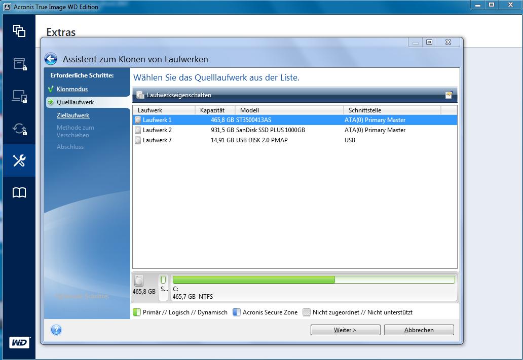 Festplatten auf SSD klonen mit kostenlosen Tools von Samsung und