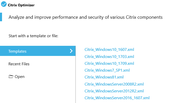 Windows 10 und Server 2016 verschlanken mit dem Citrix Optimizer