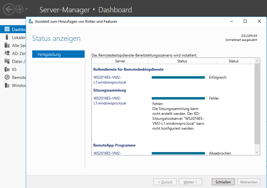Remote Desktop Services und MultiPoint in Windows Server