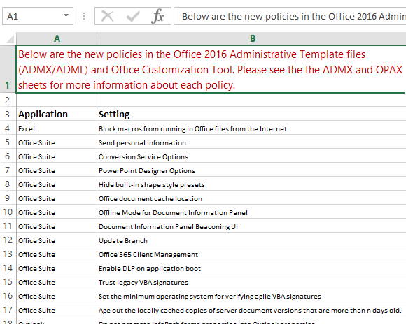 Add Office 2016 Admx Templates To Group Policy