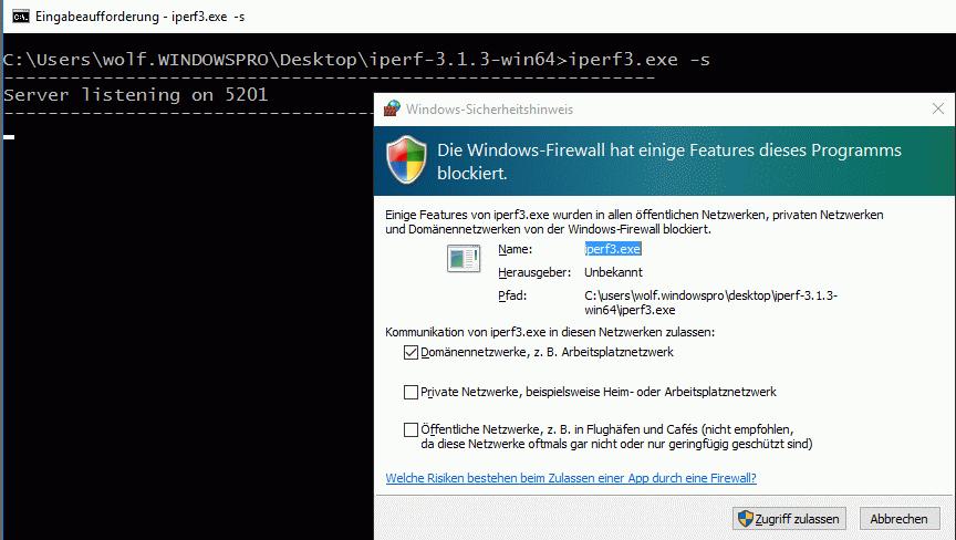 Performance von Netzwerken messen mit dem kostenlosen iPerf   WindowsPro