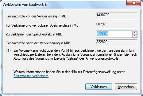 partition verkleinern mit diskmgmt msc