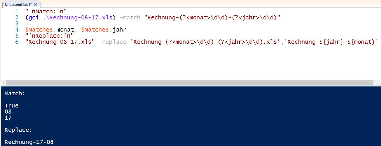 RegEx in PowerShell: Treffer in Variablen speichern mit Named Groups ...