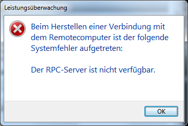 Fehler: RPC-Server nicht verfügbar