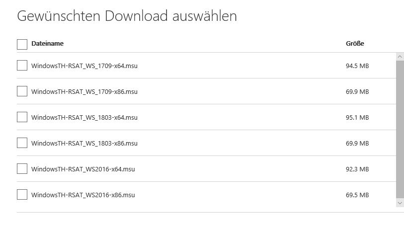 RSAT für Windows 10 1803 (April 2018 Update) verfügbar