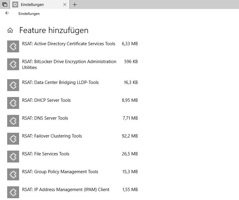 RSAT ab Windows 10 1809 kein eigener Download mehr | WindowsPro
