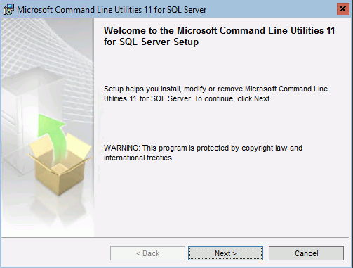 Installation der SQL Server Command Line Utilities