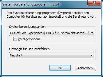 Sysprep: Windows-Image für das Deployment vorbereiten