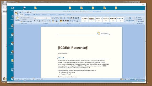 Der RDP-Client für Chrome von 2X Software öffnet ein separates Fenster, in dem er den Remote Desktop darstellt.