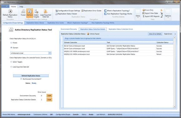 Das Active Directory Replication Status Tool ist eine komfortable GUI-Alternative zu repadmin /showrepl.