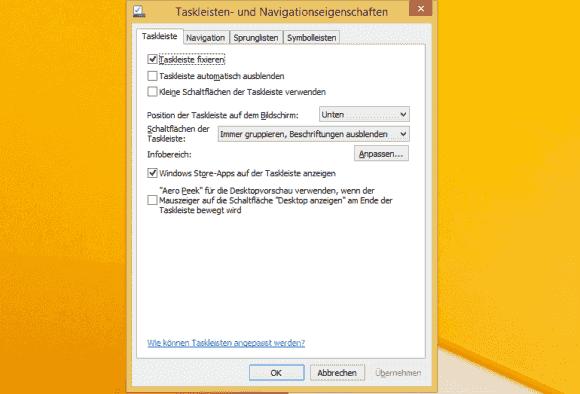 Die Anzeige aktiver App in der Task-Leiste lässt sich interaktiv und über GPOs unterbinden.