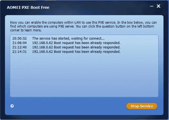 Die Konsole zeigt, welche Clients ihr OS vom PXE-Server geladen haben.