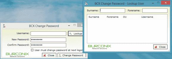 Der BCX Password Changer bietet eine Suchmaske für User, kann aber Konten nicht entsperren.