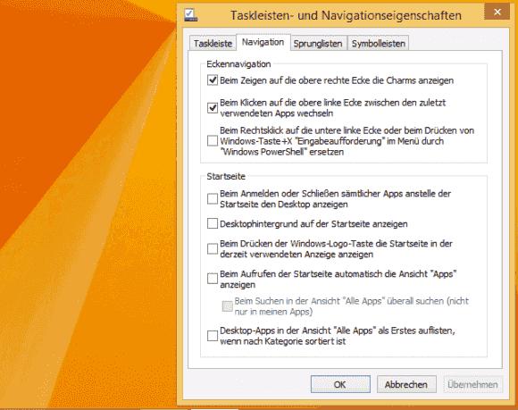 Das so genannte Boot-to-Desktop ist die zweite der Einstellungen, die neu gesetzt werden müssen.