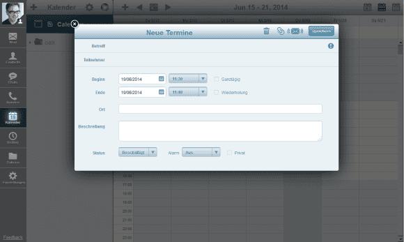 Die HTML5-Anwendung Pronto! Lite verhält sich wie eine Desktop-Applikation, etwa durch die Verwendung von Layer.
