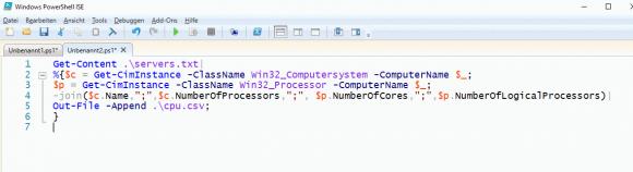 Zahl der CPUs und Cores mit Get-CIMInstance abfragen.