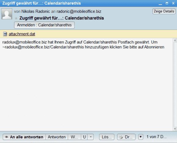 Das Annehmen einer Freigabe erfolgt bequem über den Anmelden-Button in der empfangenen Freigabe-Mail.