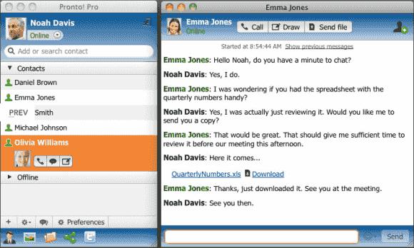 Der Instant-Messaging-Client von CommuniGate Pro vereint Chat, Telefonie und Konferenzfunktionen